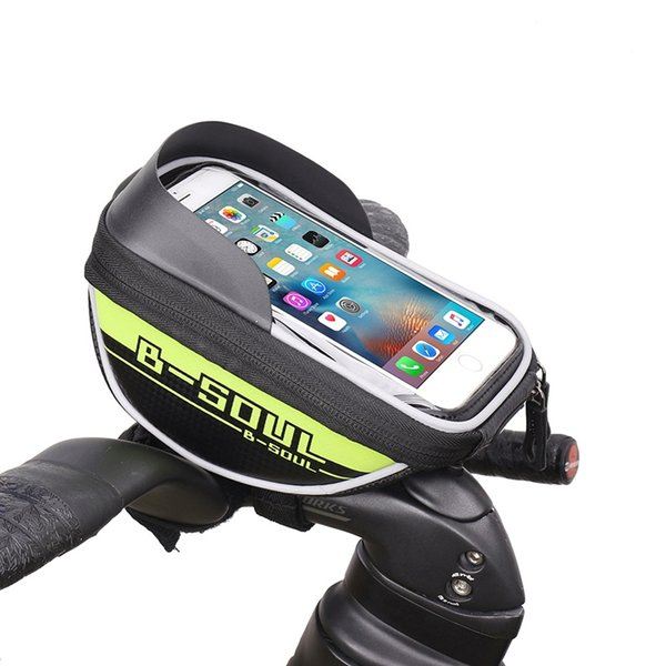 B-SOUL Waterproof Touch Screen Bicycle Bag MTB Bike Cycling Front Frame Tube Bag For 6 inch Mobile Phone Bicycle Accessories #361712