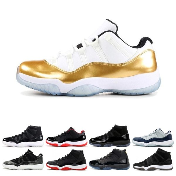 Man Basketball Shoes Concord 45 11 11s Prom Night blackout Easter Gym Red Midnight Navy Barons Closing Bred sports sneakers drop shipping