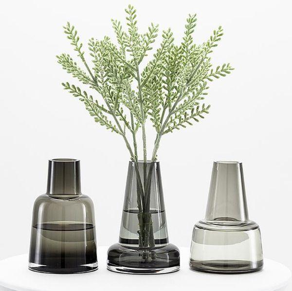 Хрустальная ваза стеклянная ваза для цветов настольный декор светло-серый в европейском стиле декор для дома ваза