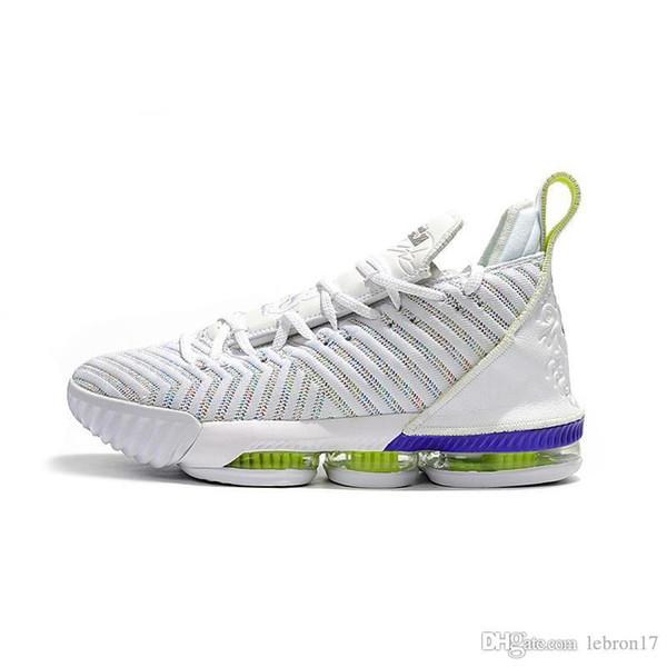 Hommes quoi le lebron 16 chaussures de basket or noir blanc gomme promesse année lumière loup gris MVP nouveaux enfants baskets lebrons tennis avec la boîte