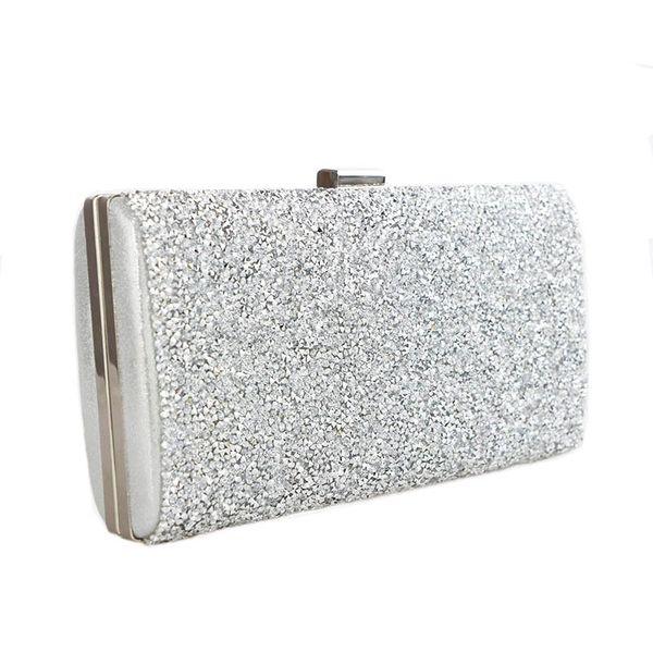 Scione Women Evening Bag Luxury Black/silver Wedding Party Bag Diamond Rhinestone Clutches Crystal Bling Gold Clutch Bag Purses Q190430