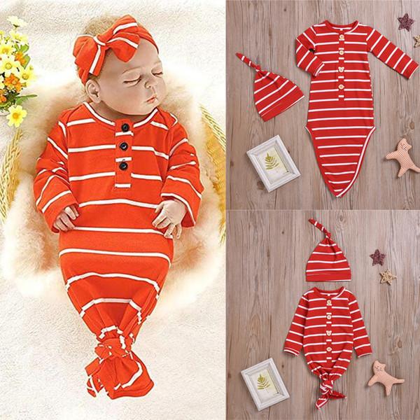 Новый ребенок детская одежда набор однобортный удобные длинные рукава топ спальный мешок + шляпа из двух частей набор детская дизайнерская одежда TJY646