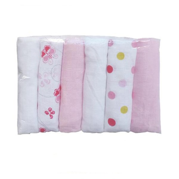 6pcs/pack Muslin Diaper Soft Cotton Diaper Cloth Baby Reusable Nappies Washable Cloth Diapers Nappy Wasbare Luier baby care cots