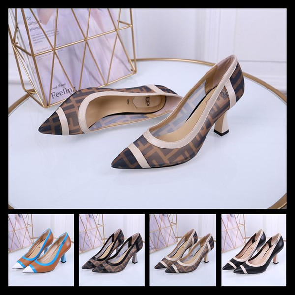 2020 Designers New Sexy Stiletto Heel Suede Back Ring Pointed Toe Women Pumps Fashion High Heels Shoes for Women Office Dress Shoes