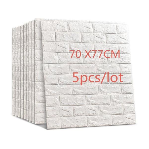 77x70 cm 5 pcs 3d adesivos de parede de tijolo diy auto adhensive decoração de espuma de parede à prova d 'água cobrindo wallpaper fundo crianças sala de estar q190416
