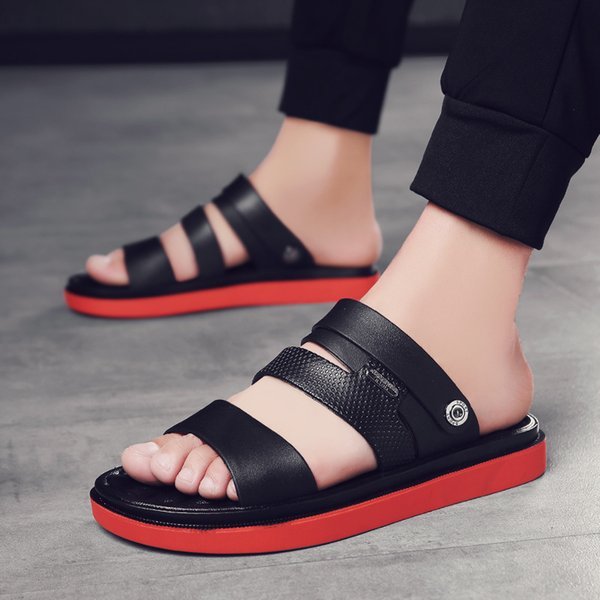 New Men Sandals Summer 2019 Flip Flops Slippers Men Outdoor Beach Casual Shoes Cheap Male Sandals Water Shoes Sandalia Masculina