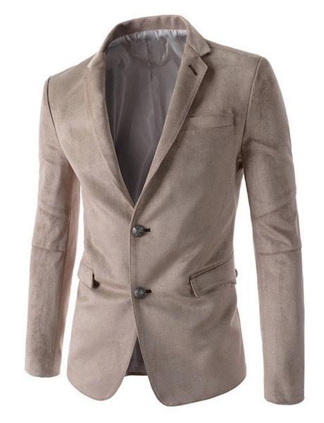2018 Printemps Nouvelle Marque Blazer Hommes Costumes Pour Hommes Noir Business Fashion Manteaux Blazers Hommes Costume Vestes M-2XL