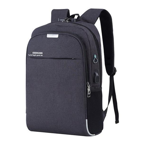 Backpack Laptop Backpack Usb Charging Backbag Travel Daypacks Male School Bookbag Leisure Backpack Anti Theft Mochila