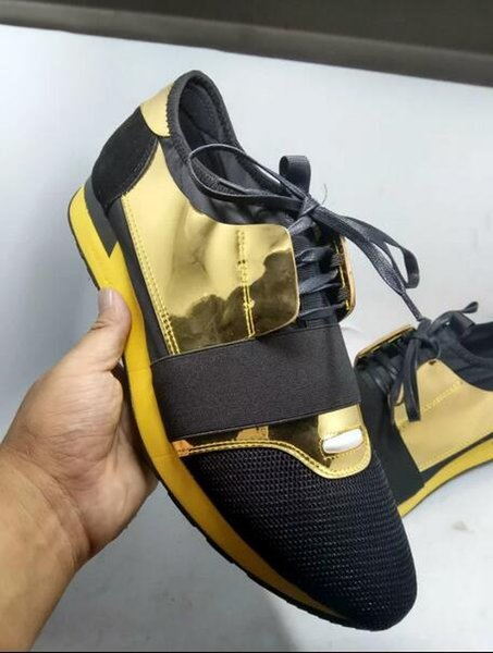 Drop Shipping Designer Casual Shoes Outdoors Good Quality Fashion Patchwork Leather Lace Up Low Cut Runner Shoes Mans Size 35-46 US 5-12 s04