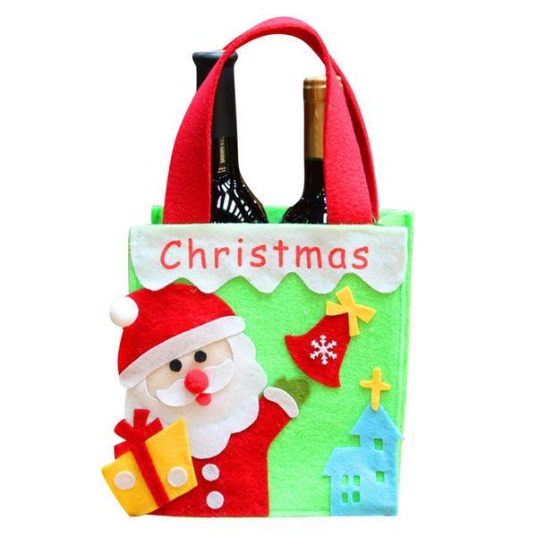 Christmas Gift Box Handle Bag di Apple Gift Box decorazione di Natale Per la casa di Babbo Natale modello Leather Rope Candy Paper Bag partito HH9-A2538
