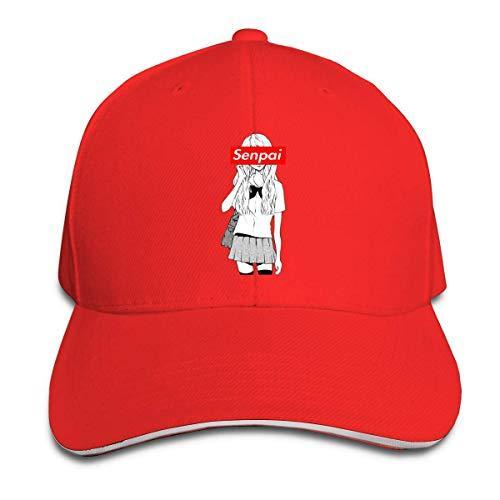 disar-t Cartoon Girl Senpai Unisex Adjustable Baseball Caps Sports Outdoors Summer Hat 8 Colors Hip Hop Fitted Cap Fashion