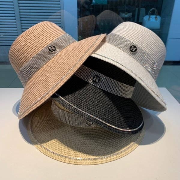 Cha Large eaves hat, lady sun hat light, comfortable charm style round straw hat fashion four colors