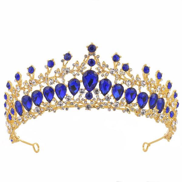 Gold Blue Crown