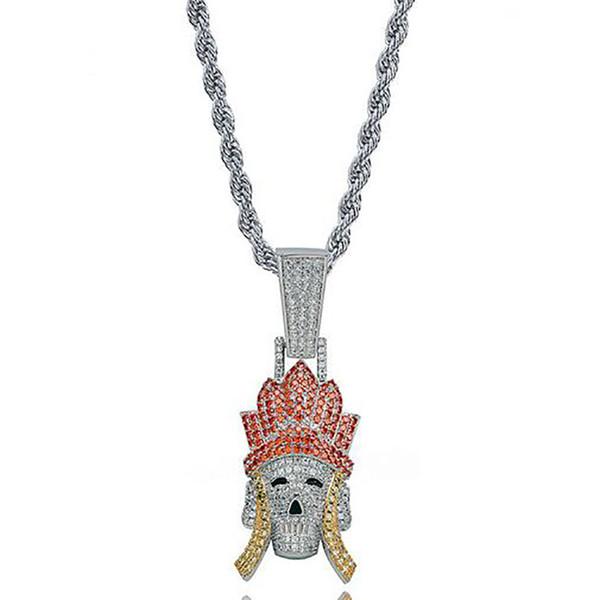 Серебряный кулон Трипитака + Веревка Хаим