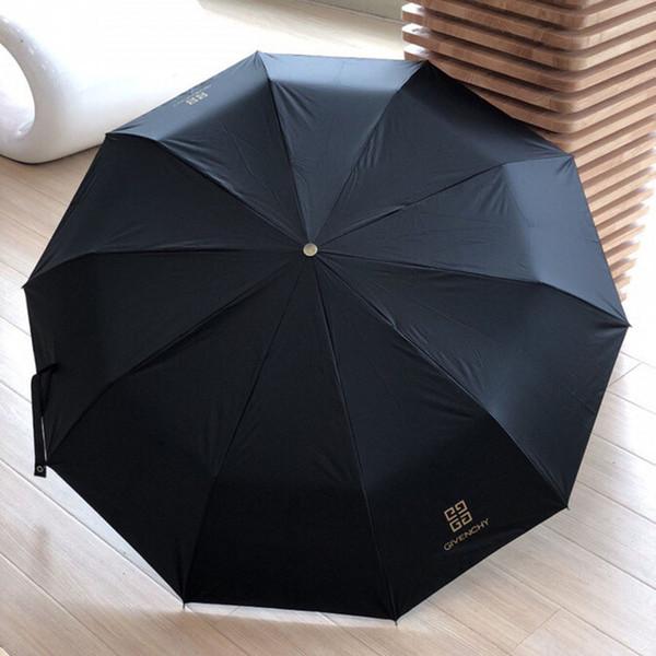 패션 블랙 커플 우산 창조적 인 남성을위한 완전 자동 접이식 우산 성격 방풍 양산 비 우산