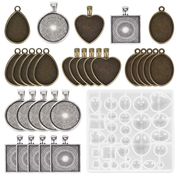 Useful Silicone Molds DIY Pendant Resin Accessories Pendant Jewelry Making Tools