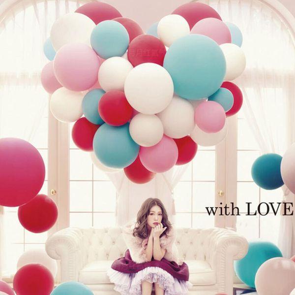 36 Zoll bunte große Latexballone Helium aufblasbare Explosion Riesenballon Hochzeit Geburtstag Party Valentinstag große Ballon Dekoration