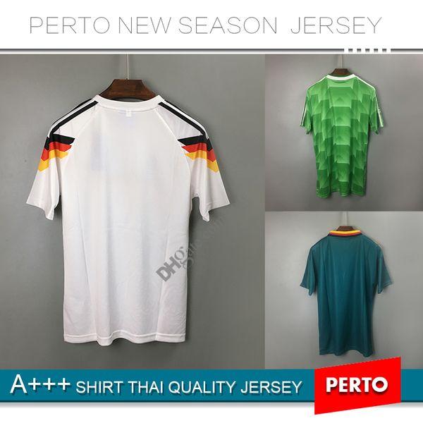 1990 1994 1988 Alemanha Versão retro Camisola de futebol # 18 KLINSMANN # 10 Matthias Alemanha em casa camisas JERSEY
