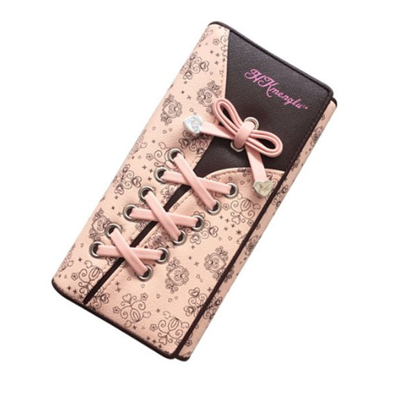 2019 Women's Wallet Clutches Purse Long Leather Cute Shoe Purse With Bandage