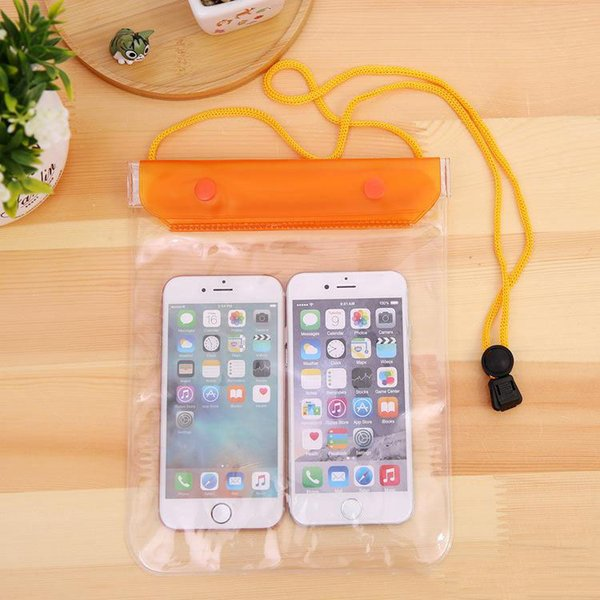 Cheapest! Clear Waterproof Pouch Dry Case Cover For Camera Mobile phone Waterproof Bags for iphone samsung htc Free shipping