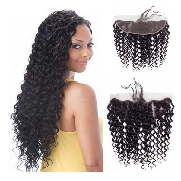 Brazilian Virgin Hair 13X4 Lace Frontal With Baby Hair Pre Plucked Ear To Ear Body Wave Straight Deep Wave Kinky Curly Lace Frontal