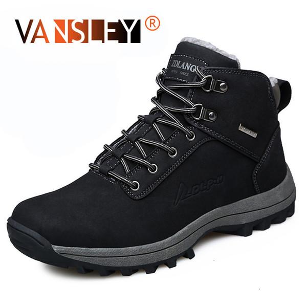 Winter Men Boots Fur Warm Man Snow Boots Designer Luxury Male Winter Combat Shoes Driving Ankle Boots Tactical Punk ShoesMX190907