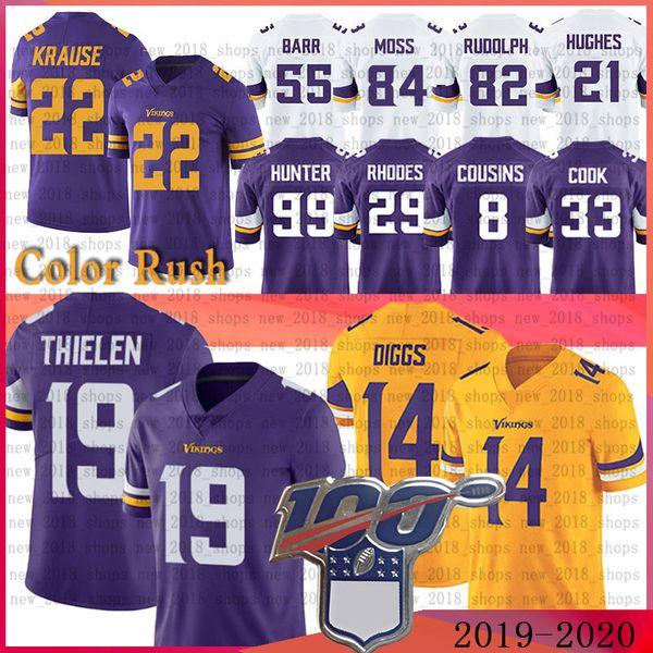 Viking 19 Adam Thielen 14 Stefon Diggs Jerseys 22 Harrison Smith Dalvin Cook DANIELLE HUNTER Kyle Rudolph Randy Moss Rhodes
