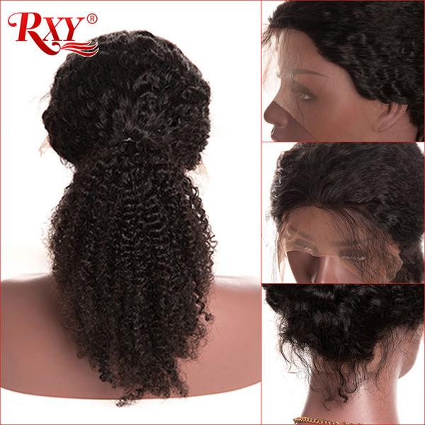 Perulu Kıvırcık İnsan Saç Dantel Ön Peruk Bebek Saç Ile Toptan fırsatlar Afro Kinky Kıvırcık Virgin İnsan Saç Peruk 13x6 Dantel Ön Peruk