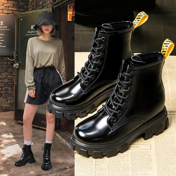 boots women shoes pu woman boots wedge solid color fashion winter ankle 2019 winter new short fur warm 777-3 - from $39.07