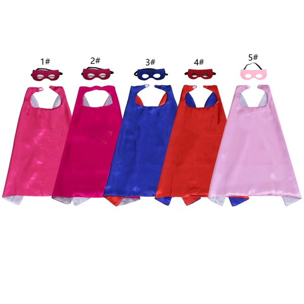 Children Super Hero Capes And Masks Christmas Dress Up Costumes The Birthday Party Theme Clothes for Boys and Girls