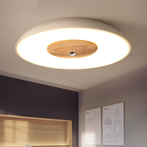 Wood LED Ceiling Lights for the living room chandeliers Ceiling for the hall modern lighting fixture