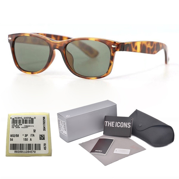 New arrival Brand Designer sunglasses for men women Mirror glass lens fashion plank frame Metal hinge with free Retail box and label