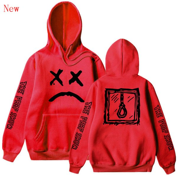 Unisex Lil Peep LOVE Jumper Hoodies Rapper Sad Face Pullover Hoodie Sweatshirt