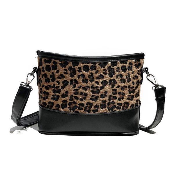 good quality Winter Faux Fur Design Shoulder Bag For Female Fashion Leopard Crossbody Bag Women Messenger Bag