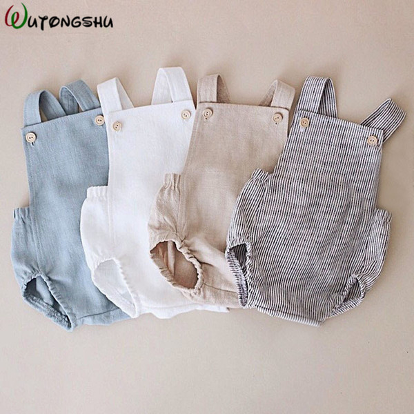 Baby Boys Romper Summer Infant Cotton Unisex Newborn Rompers New Born Baby One-pieces Girls Jumpsuit Baby Boy Clothes Outfit LY191205