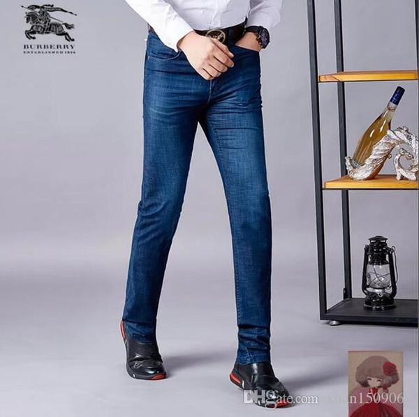 1e2fefeaff Pantalones vaqueros para hombres Pantalones vaqueros para hombres Moda coreana  Verano suelto Primavera y otoño Estilo
