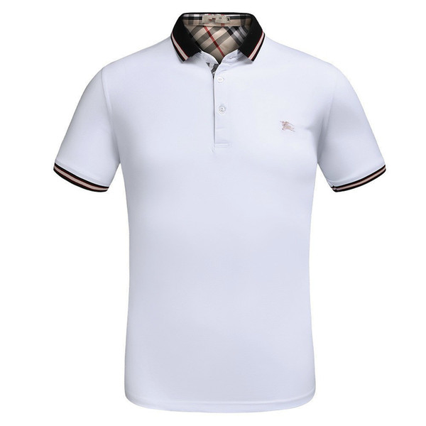 T Shirts For Men Short-sleeved Fashion, Fat Half-sleeve Bottom Shirt, Spring And Autumn Polo Cotton Brand high quality