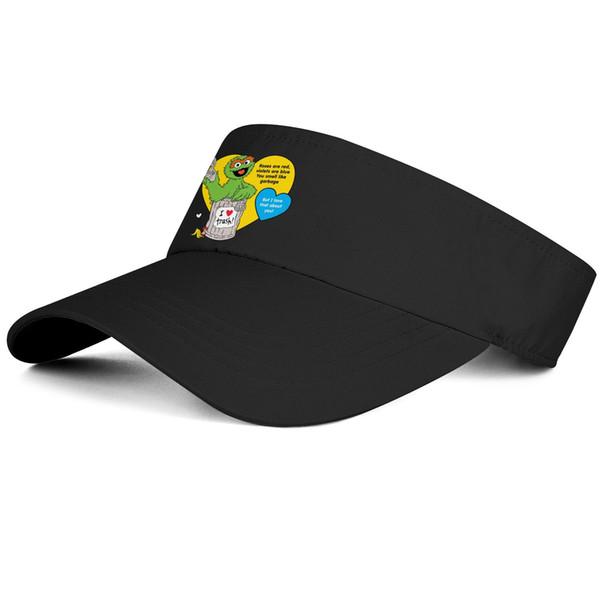 1Oscar the Grouch I love trash black man tennis hat baseball design fit custom hat sports fit team cap best classic tennis cap