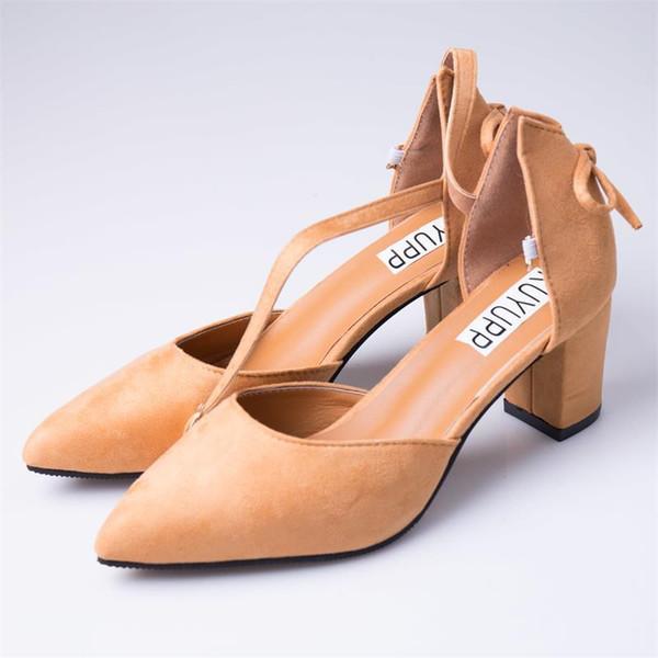 Diseñador de Zapatos de Vestir KUYUPP Shallow Summer Women Tacones Altos Bombas Cómodo Mujer Punta estrecha Moda Señoras Tacones Mujeres Calzado DT1485