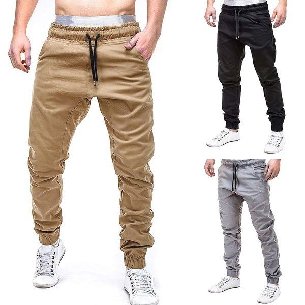 Erkekler Sweatpants Pantolon Rahat Elastik Jogging Spor Pantolon Slacks Erkek Katı Baggy Cepler Erkek Pantolon Joggers Moda 6XL