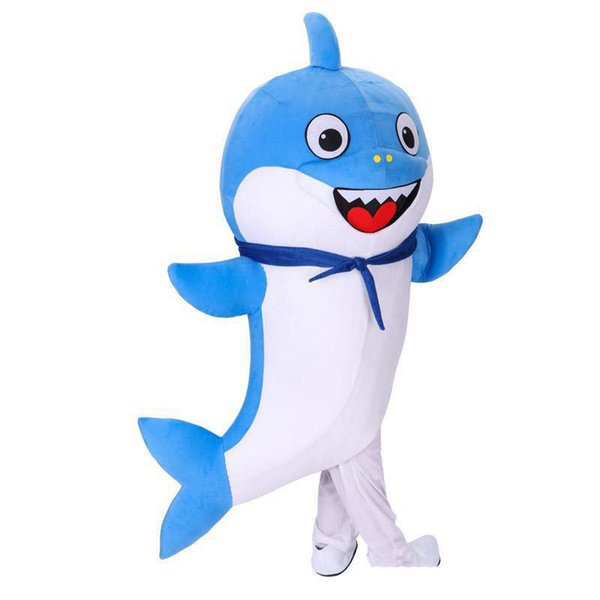 2019 hot sale Baby Shark Costume Father Shark mascot costume Character Birthday Party Halloween Carnival Festival Fancy Dress Adult
