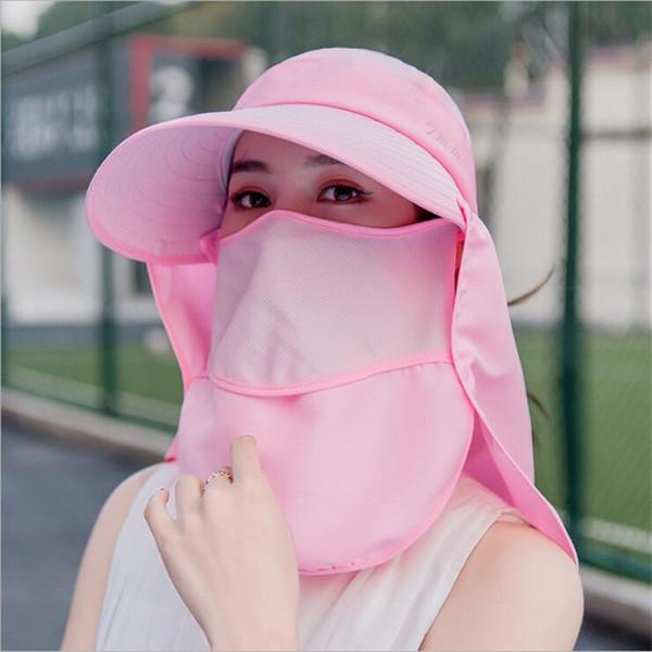 Cappelli protettivi per donne con protezione solare, copri orecchie, copri orecchie, copri orecchie, protezione estiva