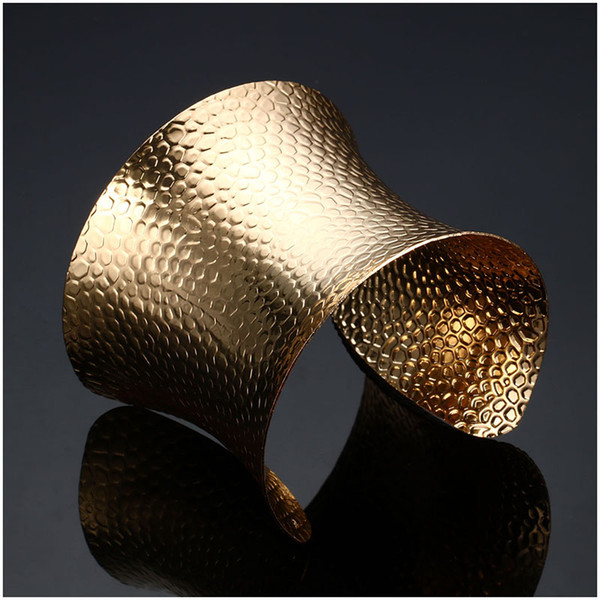 Open Wide Big Bracelets Amp Bangles For Women Men Gold/Silver Color Alloy Male Female Cute Cuff Bangle Bracelet Fashion Jewelry