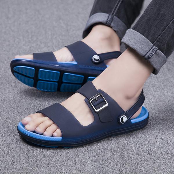 ARUONET Uomini di Estate Economici Sandali Concisi Sandali Da Spiaggia Uomo Infradito A Piedi zapatos de verano para hombre Supporto Dropshipping