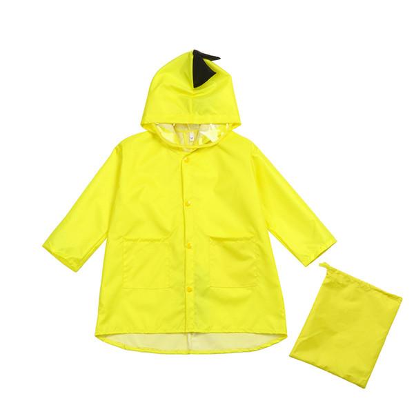 Dinosauro sveglio di nylon impermeabile Giacche cappotto di pioggia Boy vestiti dei bambini antivento Kindergarten + Giacca Borsa Studente Bambino Raincoat