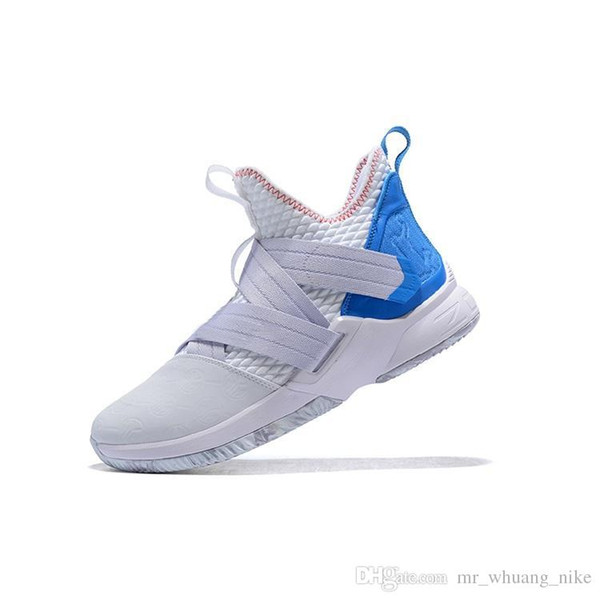 newest 5f82e 4926a 2019 Cheap Men Lebron Soldier 12 Shoes Pink White Blue Easters Christmas  Youth Kids Lebrons Soldier Xii Sneakers With Box From Mr_whuang_nike,  &Price; ...