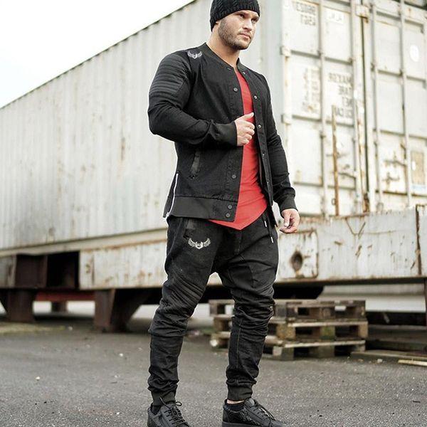 Acheter XingDeng 2019 Nouveaux Hommes De La Mode Vestimentaire Masculin  Vêtements Européens De Style Américain Top Manteaux Hommes Hip Hop Jack  Slim