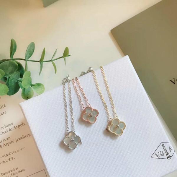 Harmony 3 colores cobre metal colgantes con cadena de acero inoxidable plata joyería de moda collares de oro para mujeres Marca