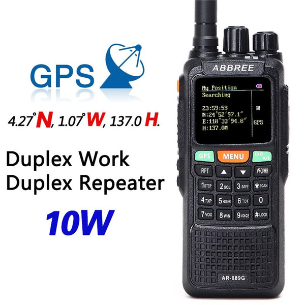 top popular ABBREE AR-889G GPS Location Sharing 10W 999CH Cross Band Repeate Night Backlight SOS Scanning Multi-Band Ham Radio Walkie Talkie 2021