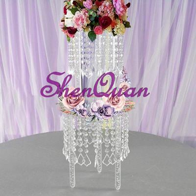 Factory price promotion classical acrylic crystal glass & acrylic material wedding cake stand for wedding & party decoration,2tier cake stan